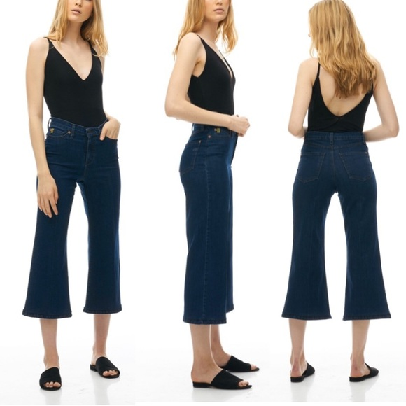 Yoga Jeans Denim - Yoga Jeans Wide Leg Crop Size 27